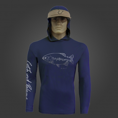 Camiseta de Polimida COM CAPUZ Catch and Release TAMBA