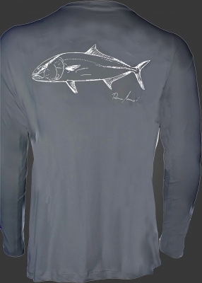 Camiseta de poliamida Catch and Release Olho de Boi
