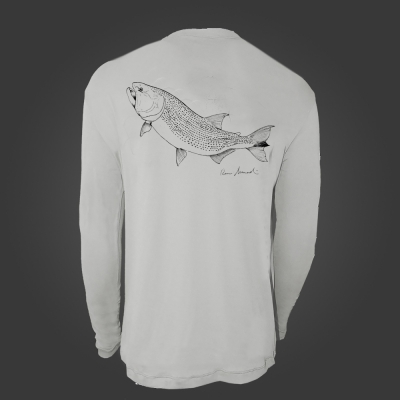 Camiseta de Poliamida ballyhoo Catch and Release Dourado