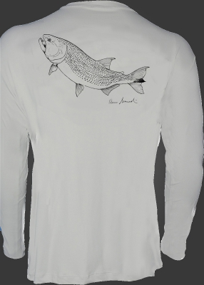 Camiseta de Poliamida Catch and Release Dourado